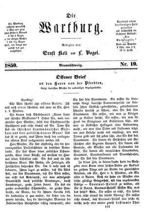 ˜Dieœ Wartburg vom 13.12.1850