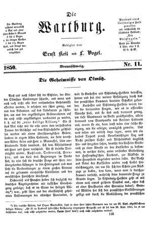 ˜Dieœ Wartburg vom 20.12.1850