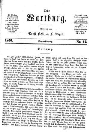 ˜Dieœ Wartburg vom 27.12.1850