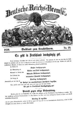 Deutsche Reichs-Bremse vom 09.03.1850