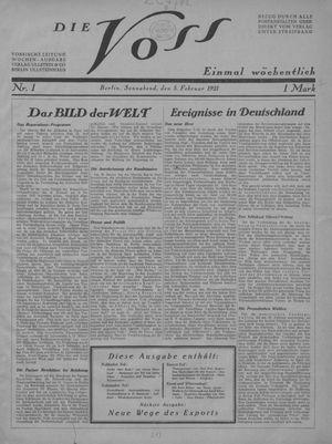 ˜Dieœ Voss vom 05.02.1921