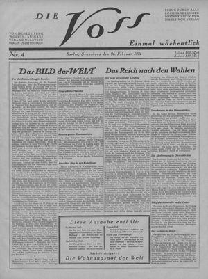 ˜Dieœ Voss vom 26.02.1921