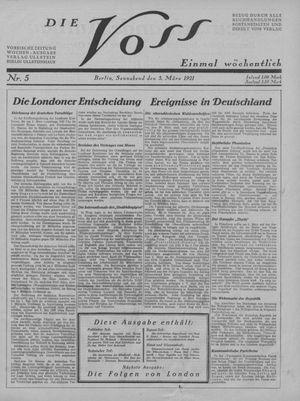 ˜Dieœ Voss vom 05.03.1921