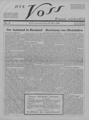 ˜Dieœ Voss vom 12.03.1921