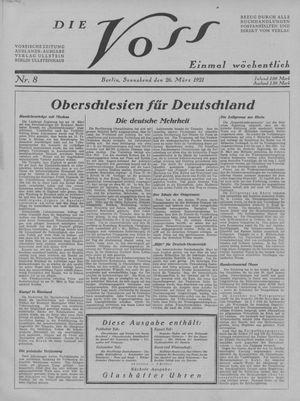 ˜Dieœ Voss vom 26.03.1921