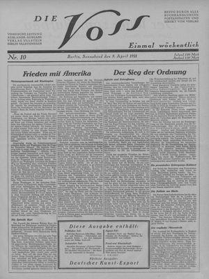 ˜Dieœ Voss vom 09.04.1921