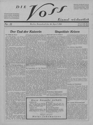 ˜Dieœ Voss vom 16.04.1921