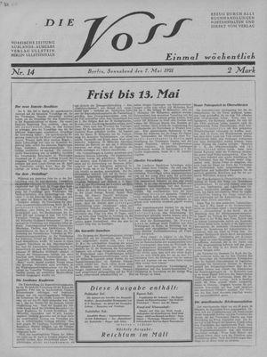 ˜Dieœ Voss vom 07.05.1921