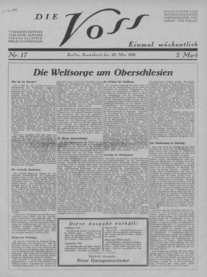 ˜Dieœ Voss vom 28.05.1921