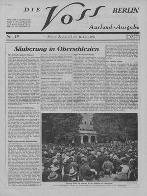 ˜Dieœ Voss vom 11.06.1921