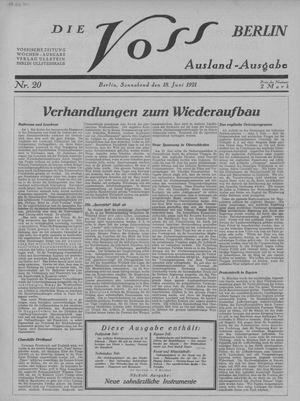 ˜Dieœ Voss vom 18.06.1921