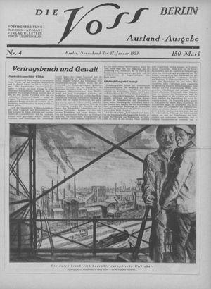 ˜Dieœ Voss vom 27.01.1923