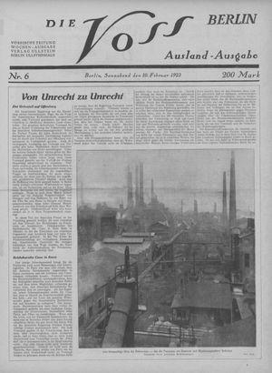 ˜Dieœ Voss vom 10.02.1923