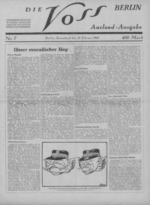 ˜Dieœ Voss vom 17.02.1923
