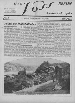 ˜Dieœ Voss on Mar 3, 1923