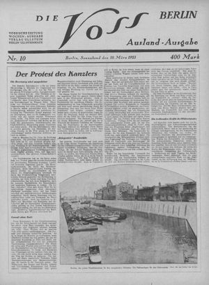 ˜Dieœ Voss vom 10.03.1923