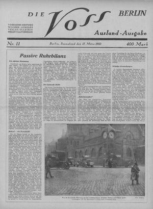 ˜Dieœ Voss vom 17.03.1923