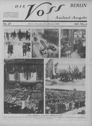˜Dieœ Voss vom 28.04.1923