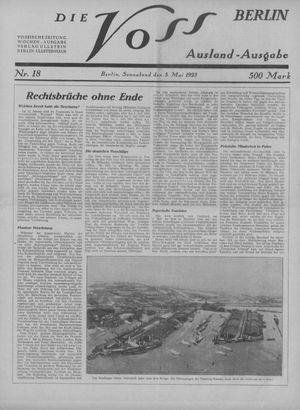 ˜Dieœ Voss vom 05.05.1923