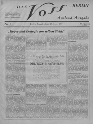 ˜Dieœ Voss vom 19.01.1924