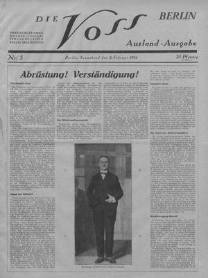 ˜Dieœ Voss vom 02.02.1924