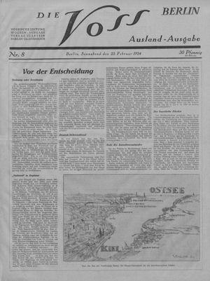 ˜Dieœ Voss vom 23.02.1924