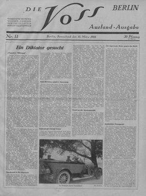 ˜Dieœ Voss vom 15.03.1924