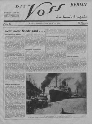˜Dieœ Voss vom 29.03.1924