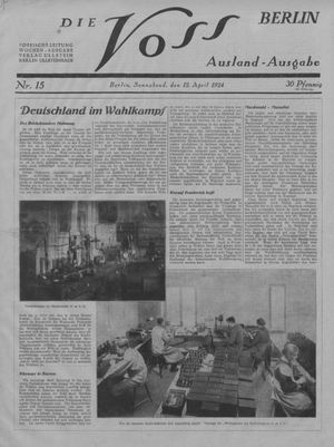 ˜Dieœ Voss vom 12.04.1924
