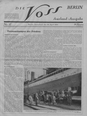 ˜Dieœ Voss vom 26.04.1924