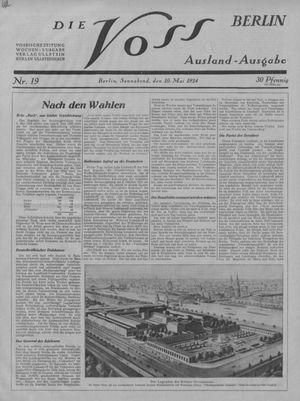 ˜Dieœ Voss vom 10.05.1924