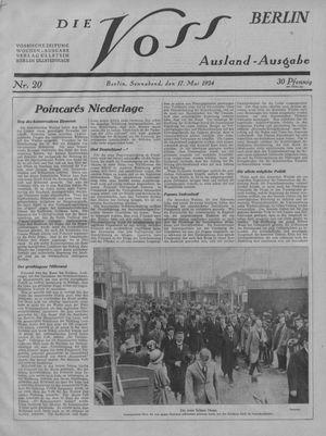 ˜Dieœ Voss vom 17.05.1924