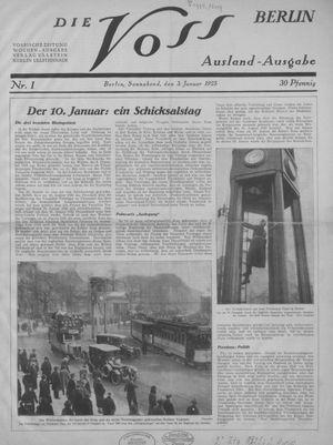 ˜Dieœ Voss vom 03.01.1925