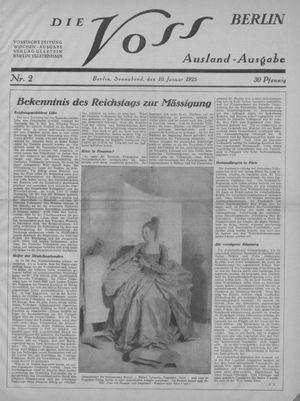 ˜Dieœ Voss vom 10.01.1925