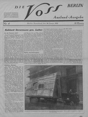 ˜Dieœ Voss vom 24.01.1925