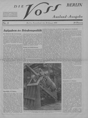 ˜Dieœ Voss vom 31.01.1925