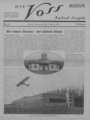 ˜Dieœ Voss vom 07.02.1925