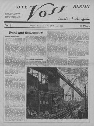 ˜Dieœ Voss vom 21.02.1925