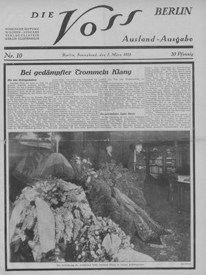 ˜Dieœ Voss vom 07.03.1925