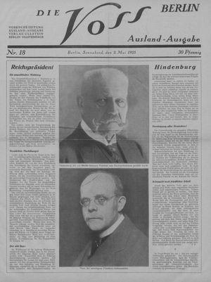 ˜Dieœ Voss vom 02.05.1925