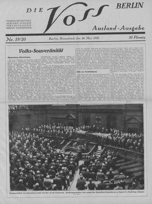 ˜Dieœ Voss vom 16.05.1925