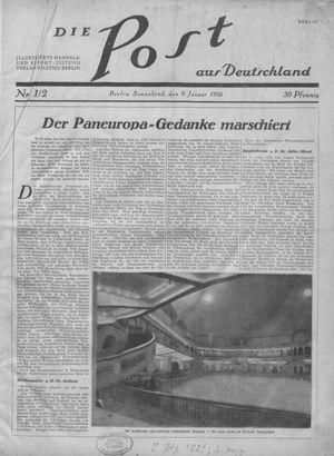 ˜Dieœ Post aus Deutschland vom 09.01.1926