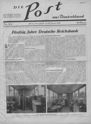 ˜Dieœ Post aus Deutschland vom 23.01.1926