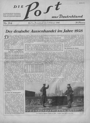 ˜Dieœ Post aus Deutschland on Feb 6, 1926