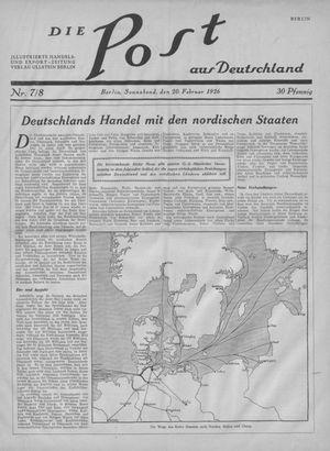 ˜Dieœ Post aus Deutschland vom 20.02.1926