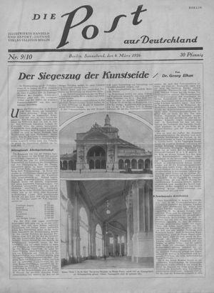 ˜Dieœ Post aus Deutschland vom 06.03.1926