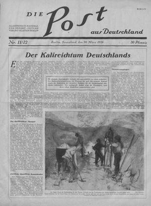 ˜Dieœ Post aus Deutschland vom 20.03.1926