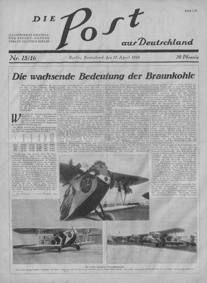 ˜Dieœ Post aus Deutschland vom 17.04.1926