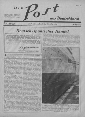 ˜Dieœ Post aus Deutschland vom 29.05.1926
