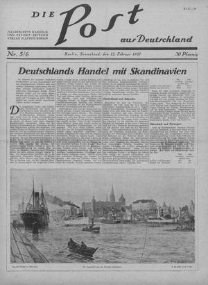 ˜Dieœ Post aus Deutschland vom 12.02.1927